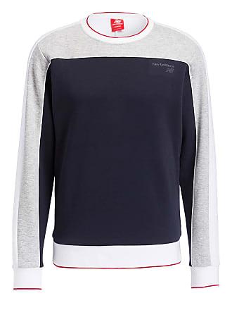 ecd8abdeaab7c8 New Balance Sweatshirt ATHLETICS CREW - NAVY  GRAU MELIERT