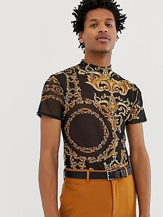 4164b5dd0d67d Reclaimed Vintage Inspired - T-shirt en tulle à imprimé baroque - Noir