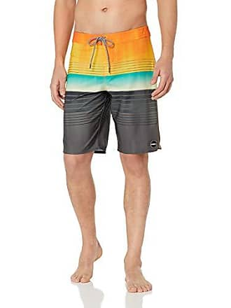 O'Neill Mens 20 Inch Outseam Stretch Swim Boardshort, Orange, 29