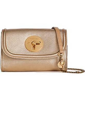 See By Chloé See By Chloé Woman Metallic Textured-leather Shoulder Bag Gold Size
