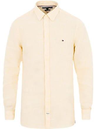 e8e10296110 Tommy Hilfiger Slim Fit Melange Linen Shirt Lemon Zest