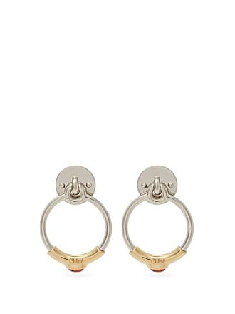 Chloé Drop Hoop Earrings - Womens - Gold