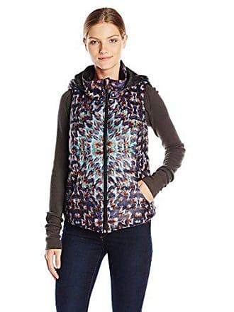 Karen Kane Womens Puffer Vest Tapestry Print, X-Large