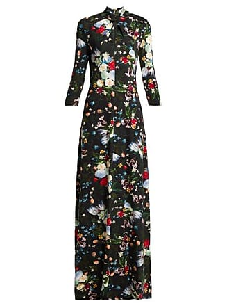Erdem Niaedith Floral Jersey Dress - Womens - Black Multi