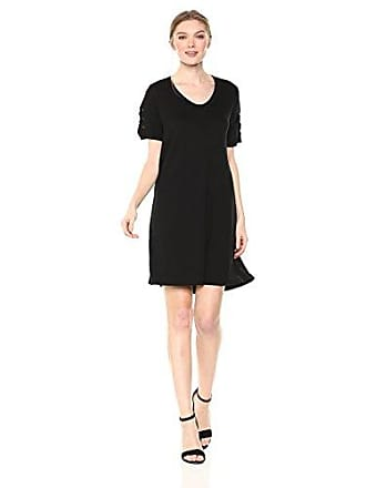 576f36b19ee Michael Stars Womens Elevated French Terry lace up Sleeve Dress