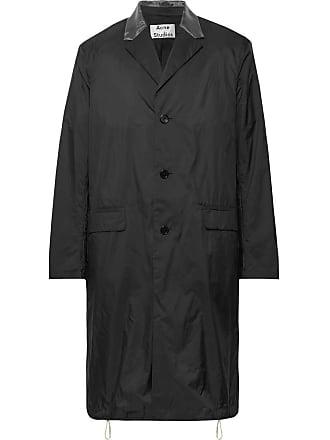 Acne Studios Sagan Organza-trimmed Nylon-ripstop Coat - Black