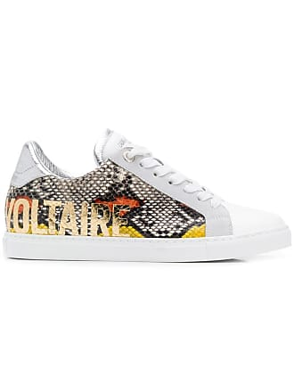 Zadig & Voltaire Wild Print sneakers - White