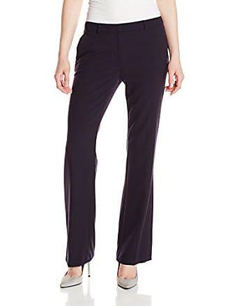 Ellen Tracy Womens Petite Size Signature Trouser, E Navy, 4