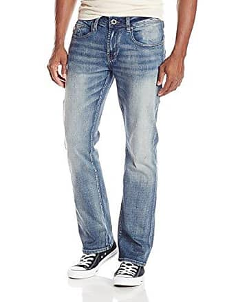 122d4a9ff21 Buffalo David Bitton Mens King Slim Boot Cut Jean in Moreila, Vintage with  Dirty Effect