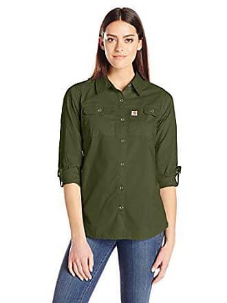 Carhartt Work in Progress Womens Force Ridgefield Shirt, Olive, X-Small