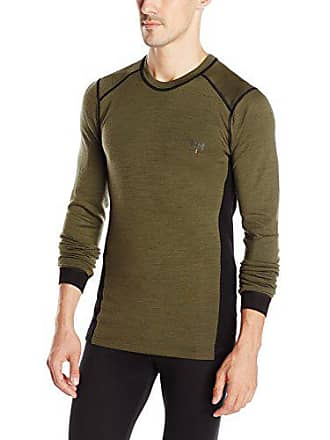 Helly Hansen Workwear Roskilde Crewneck Wool and polypropylene Base Layer Shirt, Olive Night, 4X-Large