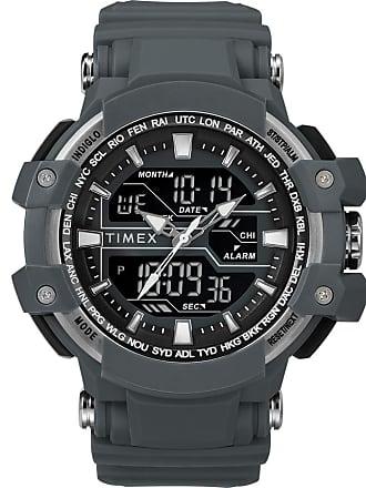 Timex Watch Mens Tactic Dgtl 50MM Resin Strap Combo Gray/gray/digital Item Tw5M22600Jt