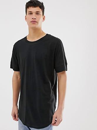 Jack & Jones Originals - Lang geschnittenes Oversize-T-Shirt in Schwarz