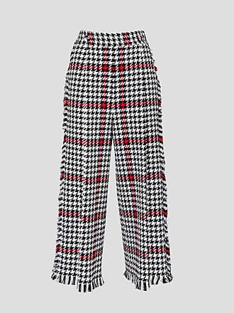 Msgm pied de poule tweed trousers