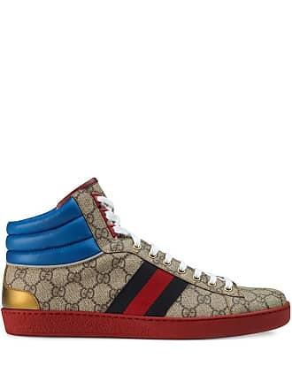 3294169c93da Gucci Ace GG high-top sneakers - Brown