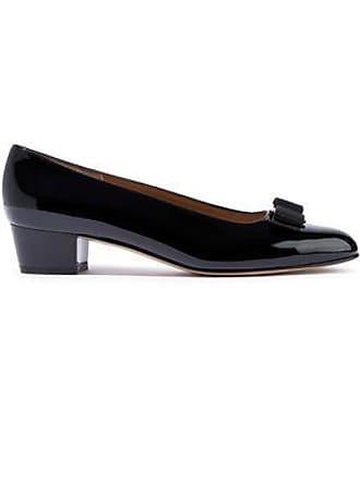 dca958951cb3 Salvatore Ferragamo Salvatore Ferragamo Woman Vara Bow-embellished Patent- leather Pumps Black Size 9
