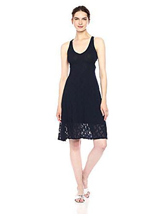 Only Hearts Womens Stretch Lace Cross Back Dress, Navy S