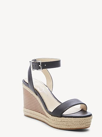 Jessica Simpson Womens Maylra Platform Wedges Sandals Black Size 10 Leather From Sole Society
