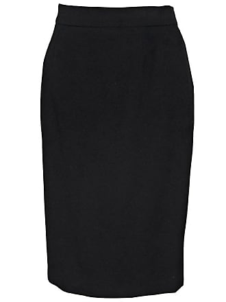 101c5fe57a1e0 Chanel Black Vintage Chanel Wool Pencil Skirt