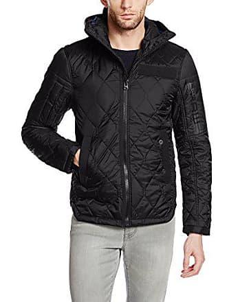 7d1e50ec50c0b G-Star Mens Batt Ig Hooded Diamond Quilted Overshirt Jacket, Black, Medium