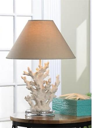 Zingz & Thingz Zingz and Thingz Coral Table Table Lamp in White