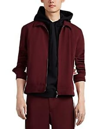 c0a17a05d27b6 Valentino Mens Striped Wool-Blend Track Jacket - Wine Size 52 EU