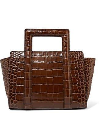 Rejina Pyo Madison Croc-effect Leather Tote - Brown