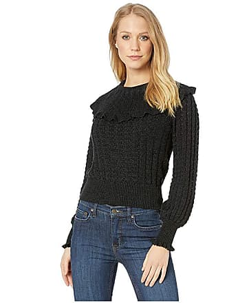 Free People Crazy In Love Ruffle (Black) Womens Clothing