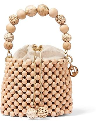 Rosantica Fenice Beaded Bucket Bag - Beige