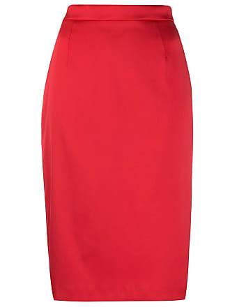 Escada mid-length pencil skirt - Vermelho
