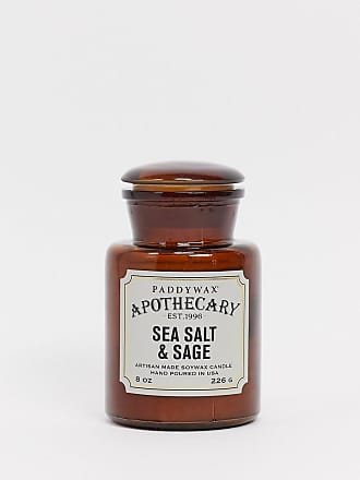 Paddywax APOTHECARY Sea Salt & Sage Glass Candle-No Colour