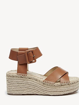 Sole Society Womens Audrina Flatsform Espadrille Cognac Size 7.5 Leather From Sole Society