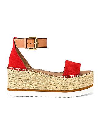 See By Chloé Glyn Platform Sandal in Red