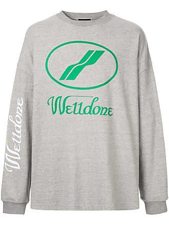 We11done Moletom com logo - Cinza