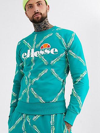 Ellesse Sismond - Durchgehend mit Logo bedrucktes Sweatshirt in Blaugrün, exklusiv bei ASOS