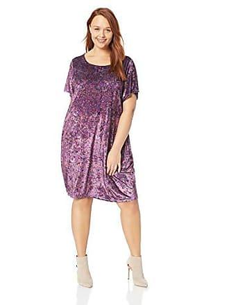 Lucky Brand Womens Plus Size Velvet TEE Dress, Purple/Multi, 1X