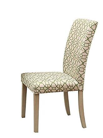ACME 71908 Glassden Side Chair (Set of 2), Green Fabric & Light Oak