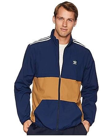 b3f5a363144 adidas Class Action Jacket (Collegiate Navy/Raw Desert/White) Mens Coat