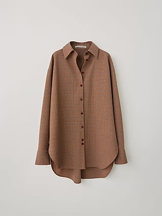 Acne Studios FN-WN-BLOU000225 Blue/brown Oversized shirt