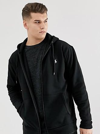 a8453a31f107 Polo Ralph Lauren Big   Tall full zip sweat hoodie player logo in black