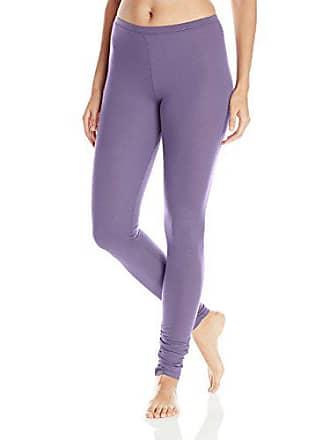 Yummie Tummie Womens Pima Jersey Legging with Shirring, Mulled Grape Medium