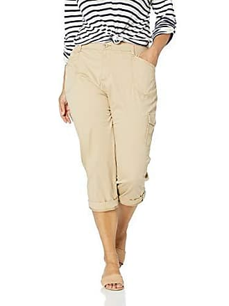 8bd12d828bb Lee Womens Plus Size Flex-to-Go Relaxed Fit Cargo Capri Pant