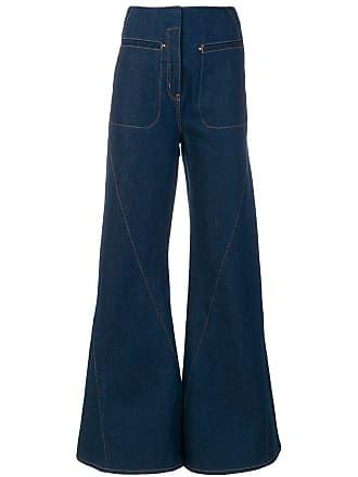 Esteban Cortazar Calça jeans flare cintura alta - Azul