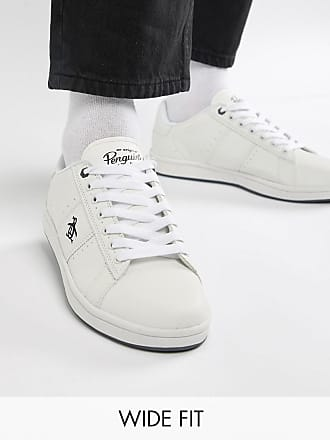 Original Penguin Wide Fit Stedaman Sneakers In White - White