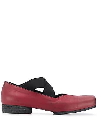 Uma Wang cross strap loafers - Red
