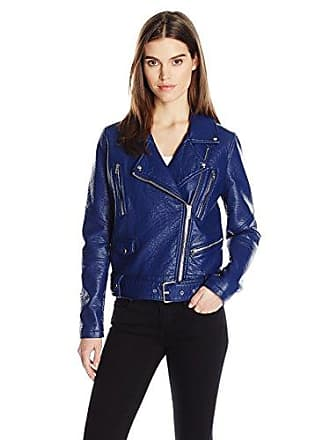 William Rast Womens Alexa Faux Leather Jacket, Ultra, S