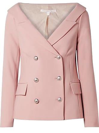 Veronica Beard Frayne Double-breasted Crepe Blazer - Baby pink