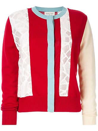 Onefifteen Cardigan com contraste - Vermelho