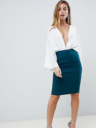 c1173e0dd8c5d Asos Petite ASOS DESIGN Petite high waisted pencil skirt - Green