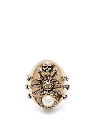 d81b966c0c0 Alexander McQueen Bague araignée à ornements cristaux et perles